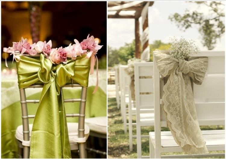 Оформления стульев к свадьбе
