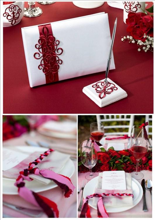 Свадьба с красным акцентом