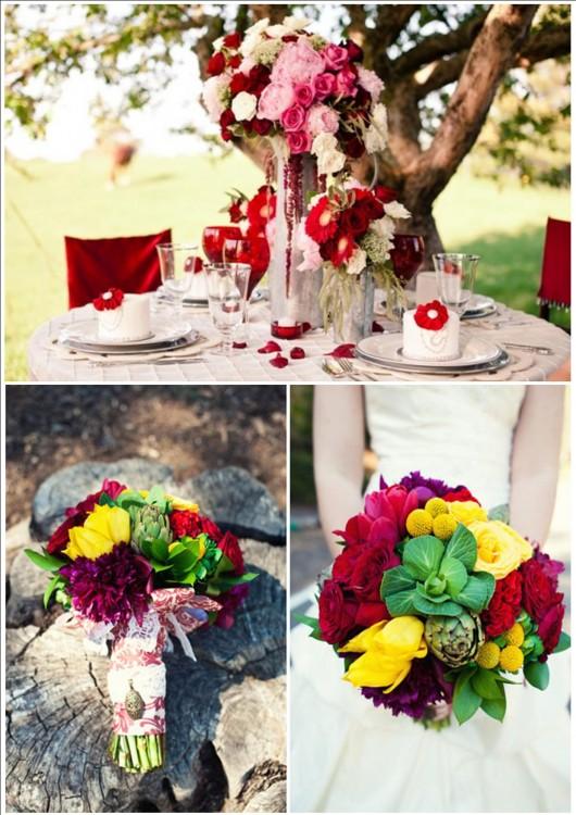 Свадьба в красном
