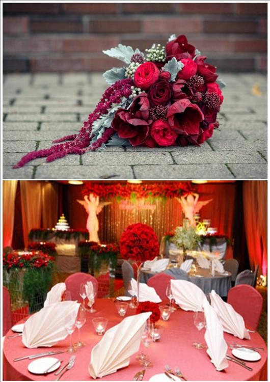Свадьба в бело красном стиле