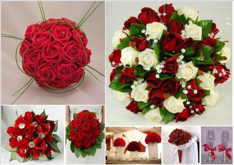 Оформить стол в красно белых цветах