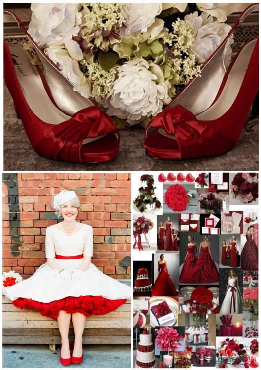 Красно белая свадьба фото