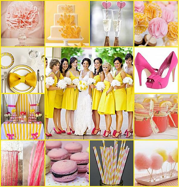 Amber color wedding